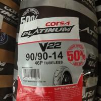 CORSA PLATINUM 90/90-14 V22 BAN BELAKANG TUBELES MOTOR MATIC