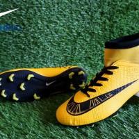 Sepatu Sepak Bola Nike Mercurial X High Kuning List Hitam Import