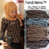Baju Atasan Wanita Muslim Blouse Fendi Nemo Hana