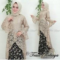 Baju Atasan Gamis Wanita Muslim setelan kebaya brukat batik