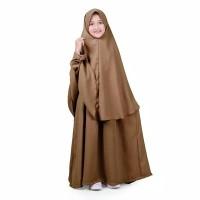 Baju Gamis Anak Syari Polos - Cokelat