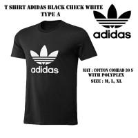 tshirt adidas A / kaos baju sport gym bola olahraga distro Lari Run