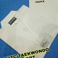 DOBOK KWON CLUB LINE KERAH PUTIH BAJU TAEKWONDO ORIGINAL