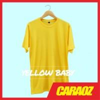 Baju Kaos Polos Kuning YELLOW BABY Lengan Pendek Pria Wanita