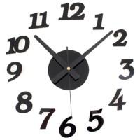 DIY Wall Clock 30-50cm Diameter - ELET00666 / Jam Dinding - Black
