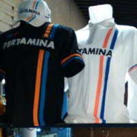 Polo Shirt / Kaos Polo / Baju Kerah Pertamina Rio F1 size S - XXL