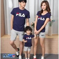 Baju Family Couple Kaos Pasangan Keluarga 1 Anak Fila 11148