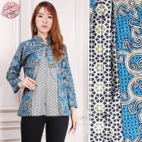 Atasan Blouse Derin Kemeja Lengan Panjang Casual Batik Modern Wanita