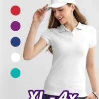 PS01 Polo Shirt Wanita Kaos Kerah Cewek Big size Plus Size (XL - 4X)