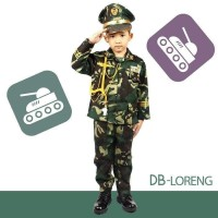 Baju Seragam Profesi Anak ABRI TNI Tentara Kostum Setelan Cowok