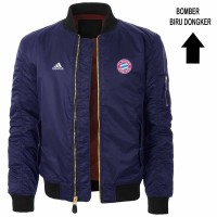 Jaket Bomber Ready Stock 2 Warna Waterproof Logo Bayern Munchen