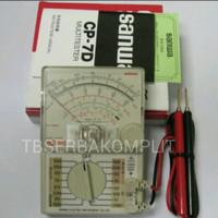 Sanwa CP 7 D Analog AC DC multi Meter 500V tester Avo meter asli ori