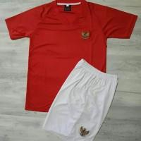 Baju Bola Anak timnas Setelan Kaos jersey indonesia team merah