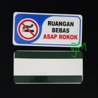 Plat Acrylic RUANG BEBAS ASAP ROKOK (20x9,5cm)