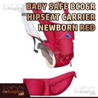 Baby Safe BC06R Hipseat Carrier Newborn Red Gendongan Multifungsi
