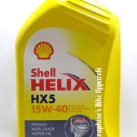 OLI MESIN SHELL HELIX HX5 15W40 1L PREMIUM MULTIGRADE BENSIN & DIESEL