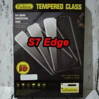 Samsung S7 Edge Antigores UV Tempered Glass Full Cover Screen Guard