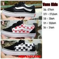 Sepatu Anak Sekolah Vans Old Skool Kids Size 25 35 Grade Ori Vietnam