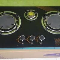 Kompor Gas Axara 3 Tungku Terbaru, Pemantik Elektrik