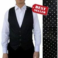Baju kantor casual vest rompi gilet motif salur kotak / polkadot pria