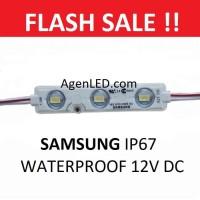 SAMSUNG Lampu LED Modul 5730 SMD 12v DC 3 Mata 12 v volt Module PUTIH