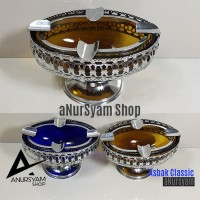 Asbak Model Classic Warna Kaca Coklat Biru / Asbak Classic 1275