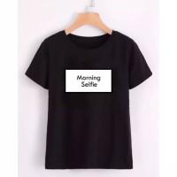 t-shirt wanita morning selfie