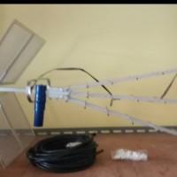 Antena TV Titis dengan 10 meter belden beserta jack dan klem kabel
