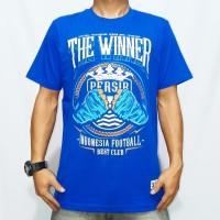 Baju kaos persib the winner hitam biru cocok untuk pria wanita origina