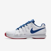 Sepatu Tennis Nike Zoom Vapor 9.5 Tour - White/Blue/Red Original