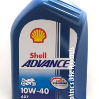 OLI MOTOR SHELL ADVANCE AX7 4T 10W-40 1L -SEMI SYNTHETICS, RCE TECH