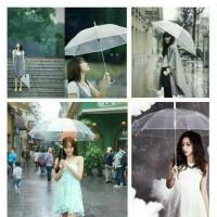 Payung Bening dan Payung Transparan
