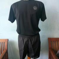 Setelan baju Olahraga Hitam TNI/Celana Pendek