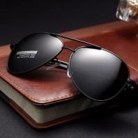 Kacamata Hitam Polarized Sunglasses Aviator Style Anti UV