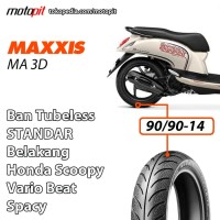 Maxxis MA3D 90/90-14 Ban Belakang Std Honda Beat Vario Spacy Scoopy