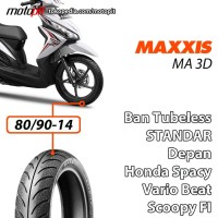 Maxxis MA 3D 80/90-14 Ban Depan Standar Honda Beat Vario Spacy Scoopy