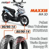 Maxxis MA 3D Paket Ban Standar Honda Beat Vario Spacy Scoopy Sepasang