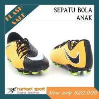 Sepatu Bola Anak Original JR Nike Hypervenom Phelon III FG Orange