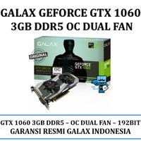 VGA  Card GALAX nVidia Geforce GTX 1060 OC (OVERCLOCK) 3GB DDR5