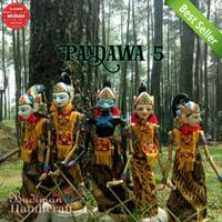 Wayang Golek Pandawa 5. 1set=(Yudistira,Bima,Arjuna,Nakula,Sadewa)