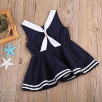 Baju bayi / Rok sailor / Dress bayi warna biru