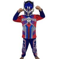 Baju Tidur Anak / Piyama Anak / Kostum Topeng Transformer (optimus)