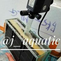 Filter aquarium tanpa kuras ukuran besar kaca+pompa