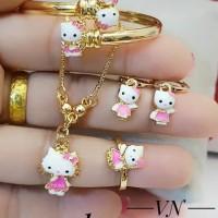 xuping set perhiasan anak kalung gelang cincin lapis emas 24k 1970