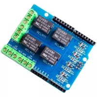 Relay Shield Module 4 Channel 5V for Arduino Uno Mega Expansion Board