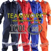 TW01 TeamWork Coverall Baju Kerja Safety Wearpack Terusan Murah Bagus