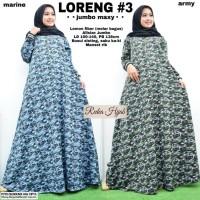 baju wanita gamis loreng#3 muslim modern modis lucu unik