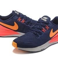 Sepatu Nike Air Zoom Structure 22 Blackened Blue/Orange Peel