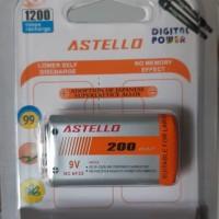 baterai cas / recharger Astello 9 volt 200MaH