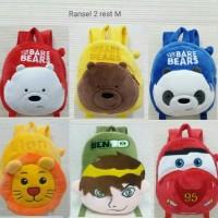 tas ransel boneka anak karakter babe bear lion 2rest sz m import